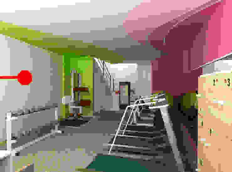 Design Interior S Fitness Studio Center Oleh CV Rancangbangun Arsitama Buana Modern Kayu Wood effect