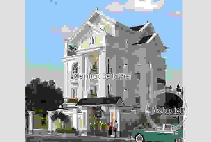 Phối cảnh mẫu thiết kế biệt thự đẹp 3 tầng Tân cổ điển (CĐT: Ông Dũng - Bắc Ninh) KT18033 bởi Công Ty CP Kiến Trúc và Xây Dựng Betaviet