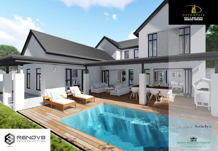 Artists Rendering Exterior Design and Finishes: modern  by Renov8 CONSTRUCTION, Modern