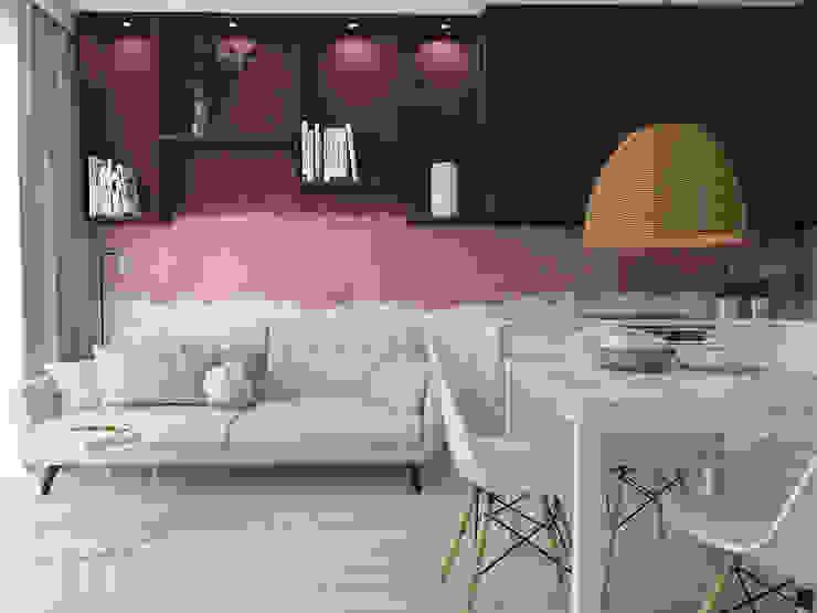 UTOO-Pracownia Architektury Wnętrz i Krajobrazu Scandinavian style living room