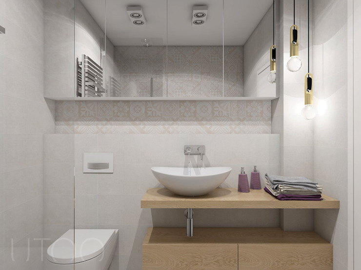 UTOO-Pracownia Architektury Wnętrz i Krajobrazu Scandinavian style bathroom