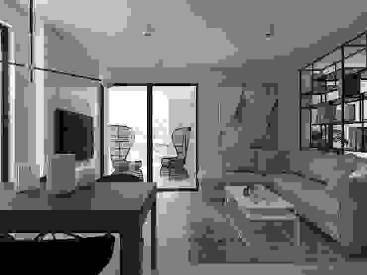 UTOO-Pracownia Architektury Wnętrz i Krajobrazu 现代客厅設計點子、靈感 & 圖片