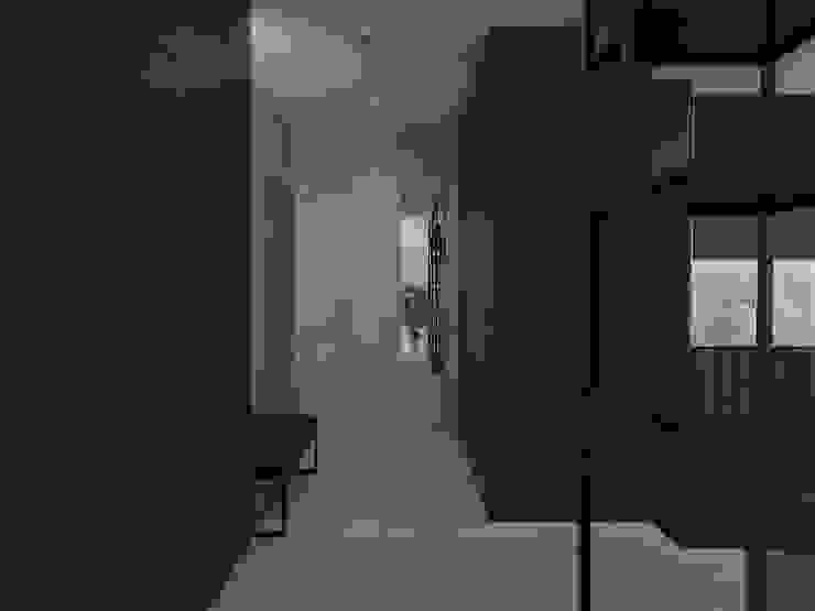 UTOO-Pracownia Architektury Wnętrz i Krajobrazu 現代風玄關、走廊與階梯