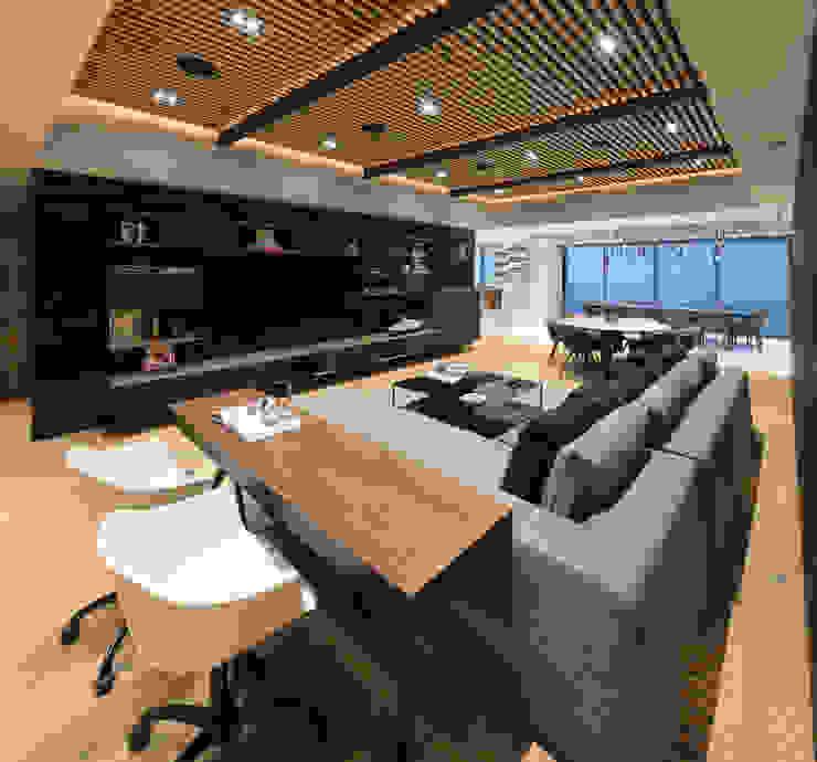 Departamento SS Concepto Taller de Arquitectura Salas multimedia modernas