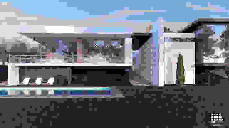 3h arquitectos Garden Pool Wood White