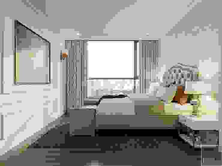 NGÔI NHÀ NUÔI DƯỠNG TÌNH YÊU - Thiết kế căn hộ ấn tượng tại Vinhomes Central Park Phòng ngủ phong cách kinh điển bởi ICON INTERIOR Kinh điển