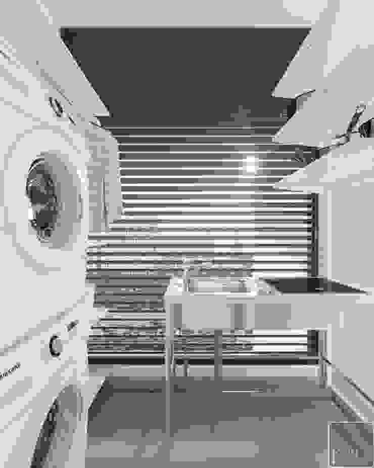 NGÔI NHÀ NUÔI DƯỠNG TÌNH YÊU – Thiết kế căn hộ ấn tượng tại Vinhomes Central Park Hành lang, sảnh & cầu thang phong cách kinh điển bởi ICON INTERIOR Kinh điển