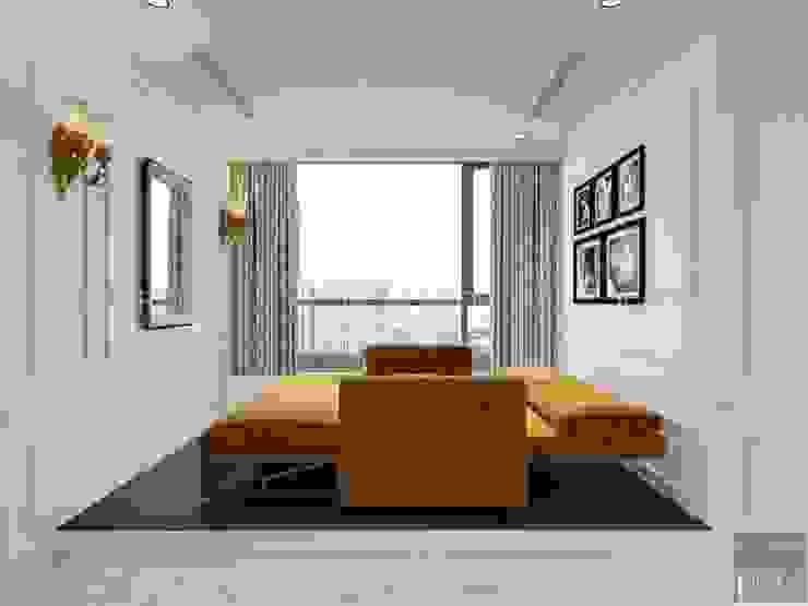 NGÔI NHÀ NUÔI DƯỠNG TÌNH YÊU – Thiết kế căn hộ ấn tượng tại Vinhomes Central Park Phòng giải trí phong cách kinh điển bởi ICON INTERIOR Kinh điển