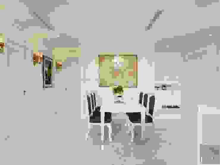 NGÔI NHÀ NUÔI DƯỠNG TÌNH YÊU – Thiết kế căn hộ ấn tượng tại Vinhomes Central Park Phòng ăn phong cách kinh điển bởi ICON INTERIOR Kinh điển