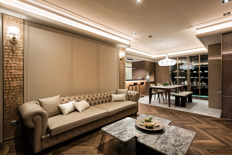 Salas de estar modernas por 青易國際設計 Moderno