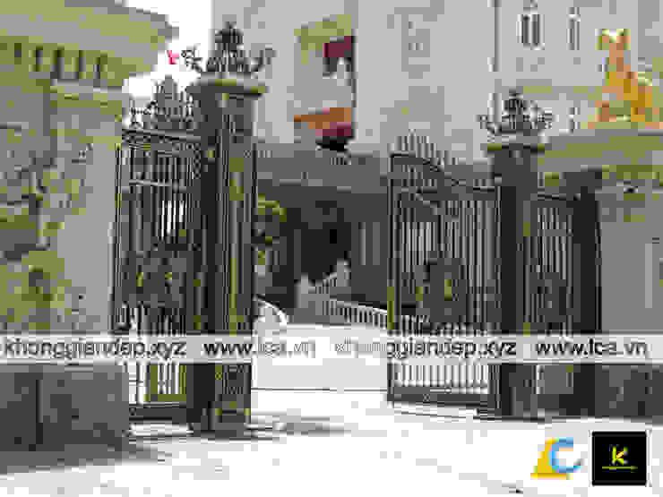 Cổng nhôm đúc đẹp dành cho biệt thự bởi Không Gian Đẹp XYZ