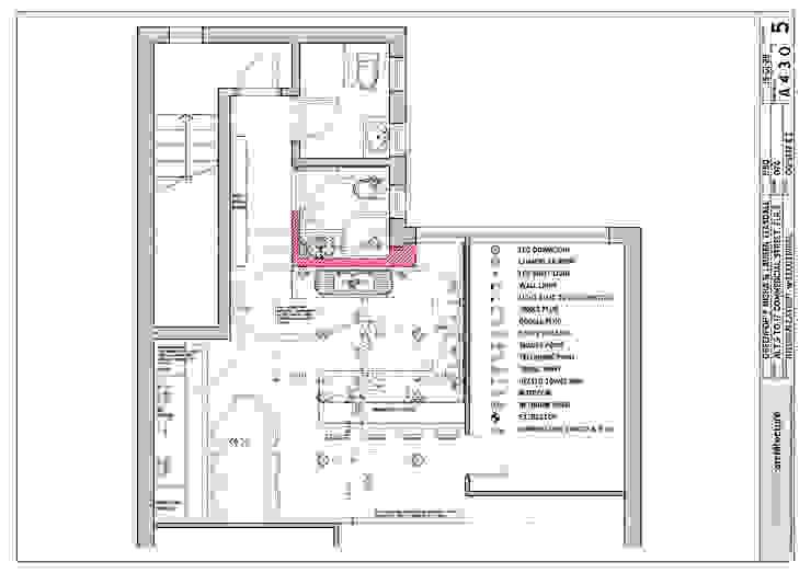 architectural plan Modern kitchen by Till Manecke:Architect Modern