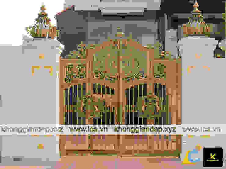 Mẫu cổng nhôm đúc biệt thự bởi Không Gian Đẹp XYZ