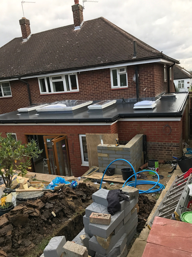 GRP flat roof with x5 sky dome lights NB Exquisite Designs