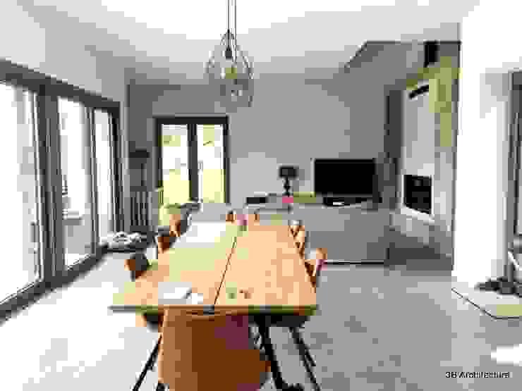 Espace de vie ouvert Salle à manger minimaliste par 3B Architecture Minimaliste