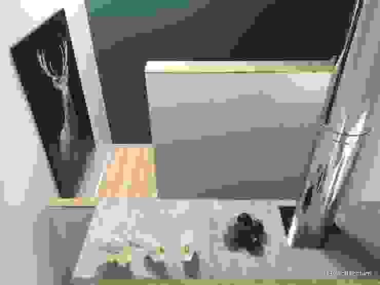 Montée d'escalier par 3B Architecture Minimaliste Bois Effet bois