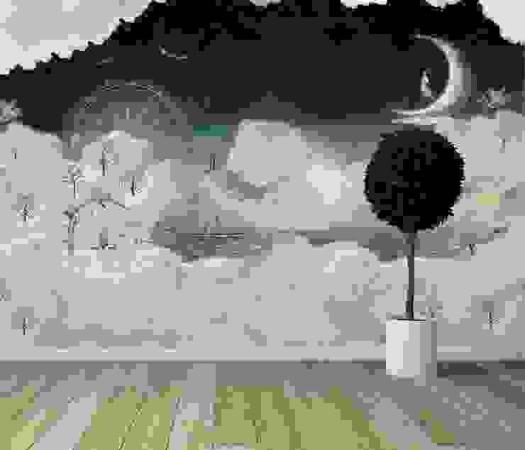 Locaux commerciaux & Magasin modernes par House Frame Wallpaper & Fabrics Moderne