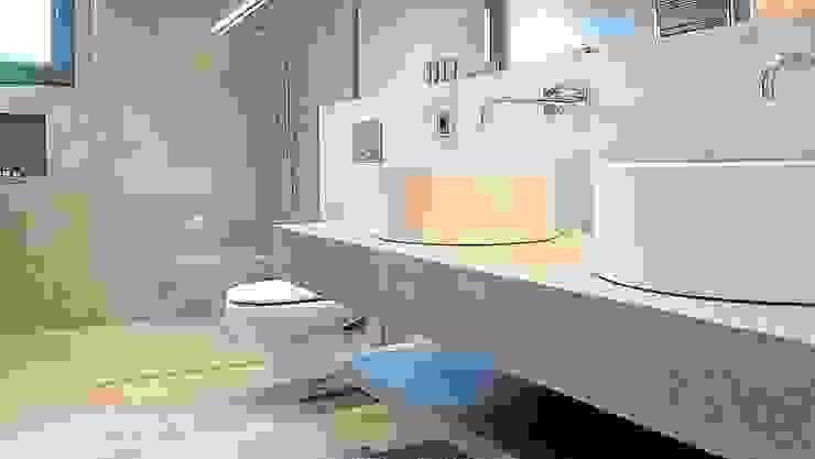 Baños en Microcemento BauDesign Baños de estilo moderno Gris