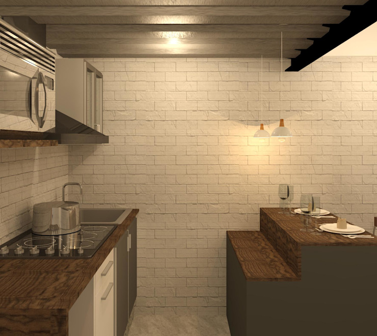 Cocina de Perfil Arquitectónico Moderno