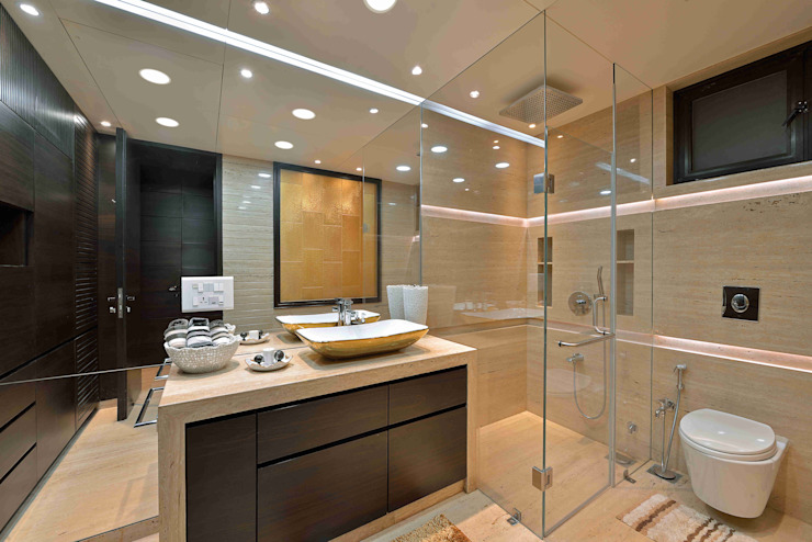 MADHUNIKETAN 10TH FLOOR:  Bathroom by smstudio,
