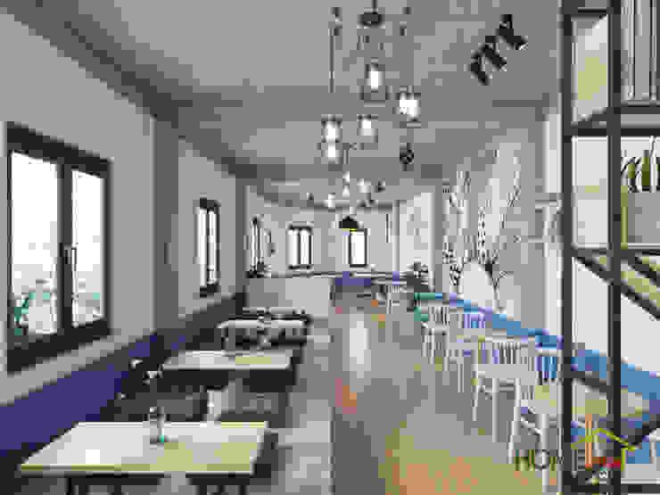 Mẫu thiết kế quán trà sữa đa dạng và hiện đại bởi Home Office Bắc Âu