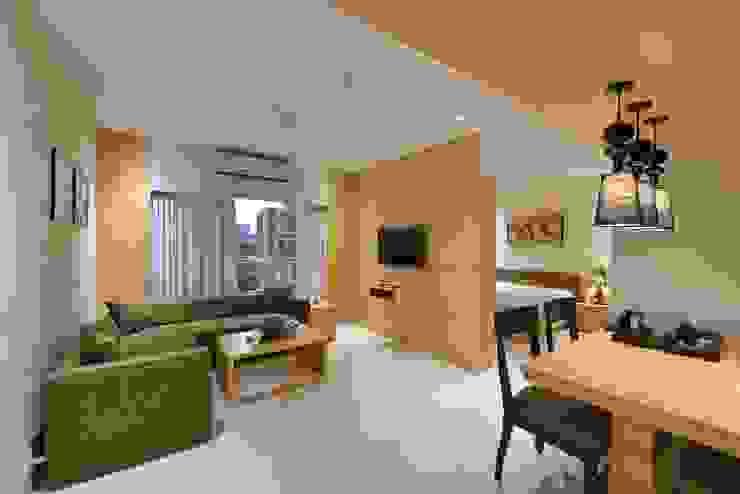 ICICI GUEST HOUSE MUMBAI Modern living room by smstudio Modern