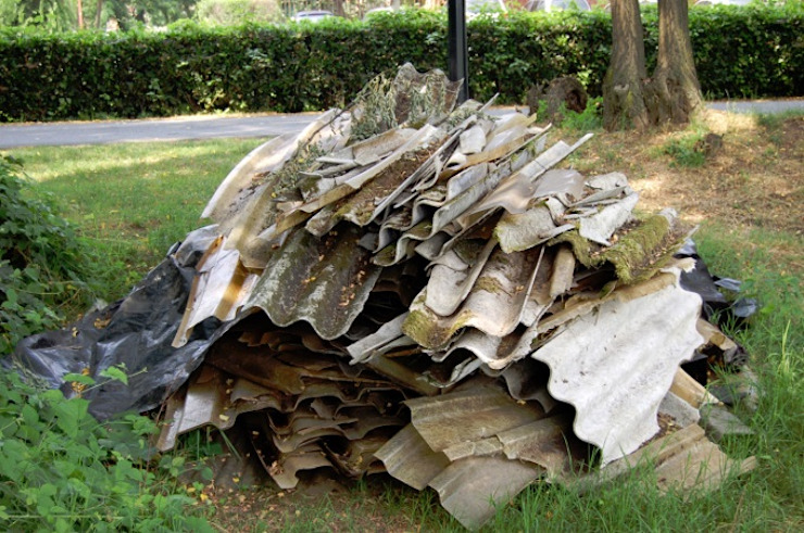 Asbestos Waste Collection Service Crucial Environmental Ltd Prefabricated home Plywood Amber/Gold