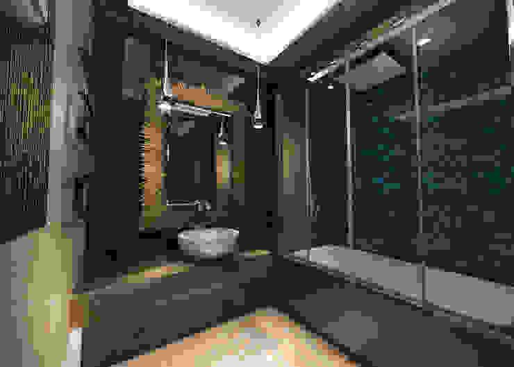 Eclectic style bathroom by Студия Маликова Eclectic Tiles