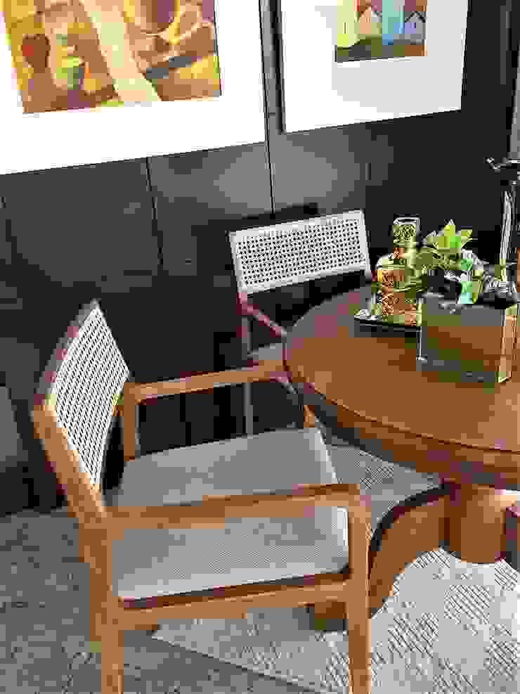 Cadeira Palhinha Contemporânea por Sgabello Interiores Moderno Madeira Efeito de madeira