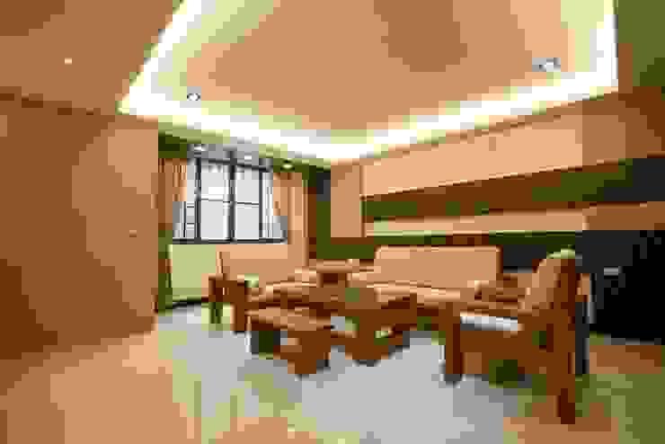 禪風客廳 深白舍空間設計工作室 Interior landscaping Solid Wood
