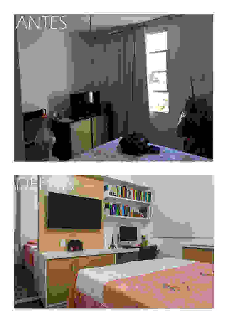 Antes e depois do quarto Joana Rezende Arquitetura e Arte