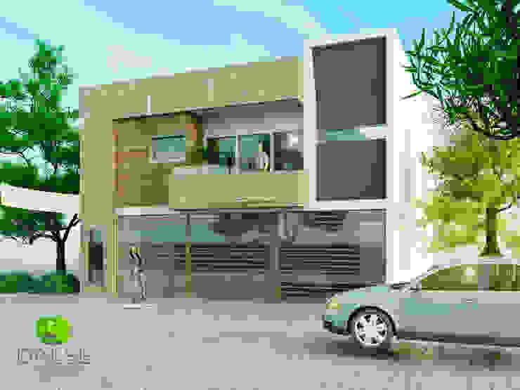 Fachada casa habitacion de DALSE Construccion & Remodelación Moderno Concreto