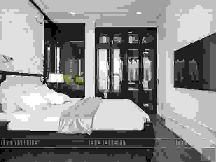 Thiết kế căn hộ Vinhomes Golden River – Phong cách thiết kế mang tiếng vọng xưa Phòng ngủ phong cách châu Á bởi ICON INTERIOR Châu Á