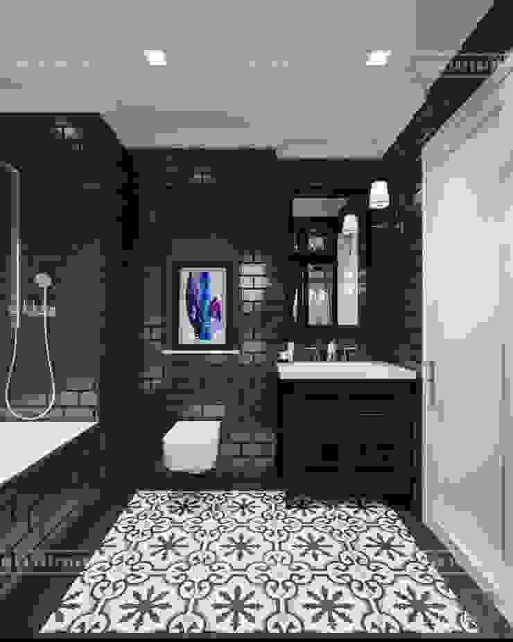 Thiết kế căn hộ Vinhomes Golden River – Phong cách thiết kế mang tiếng vọng xưa Phòng tắm phong cách châu Á bởi ICON INTERIOR Châu Á