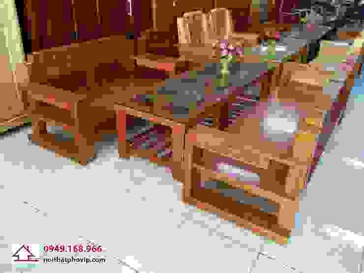 Mẫu SLC076: hiện đại  by Đồ gỗ nội thất Phố Vip, Hiện đại