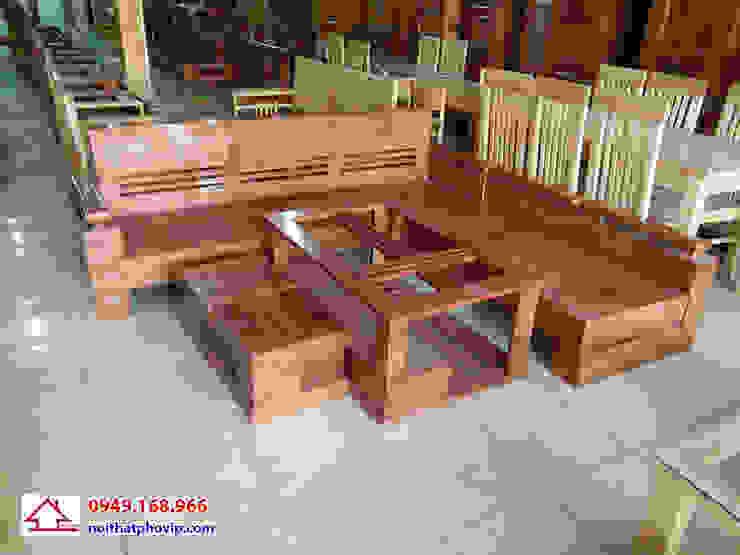 Mẫu SLS079: hiện đại  by Đồ gỗ nội thất Phố Vip, Hiện đại