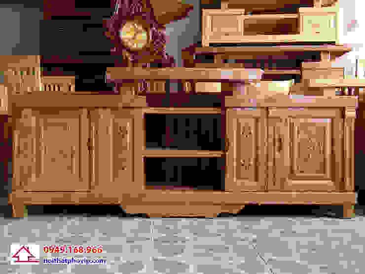 Mẫu KTVH439: hiện đại  by Đồ gỗ nội thất Phố Vip, Hiện đại