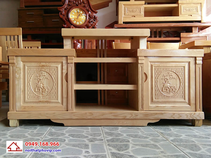 Mẫu KTVS471: hiện đại  by Đồ gỗ nội thất Phố Vip, Hiện đại