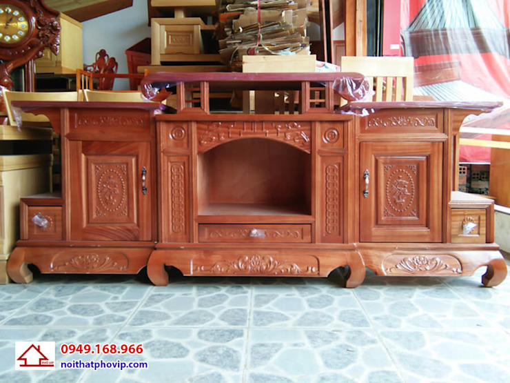 Mẫu KTVX559: hiện đại  by Đồ gỗ nội thất Phố Vip, Hiện đại