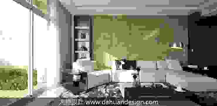 大桓設計-室內設計-極上之墅 Modern living room by 大桓設計顧問有限公司 Modern Slate