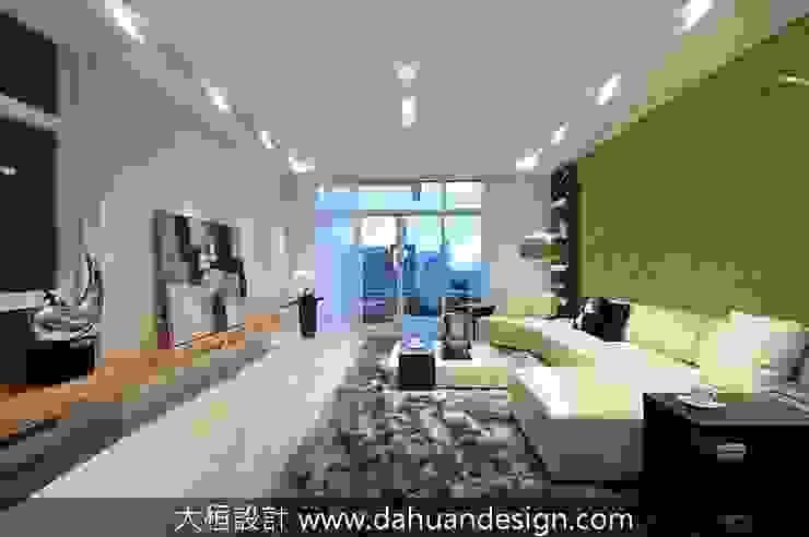 Salas de estar modernas por 大桓設計顧問有限公司 Moderno Mármore