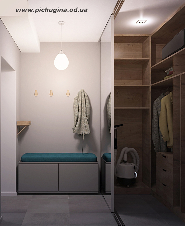 Pasillos, halls y escaleras minimalistas de Tatyana Pichugina Design Minimalista