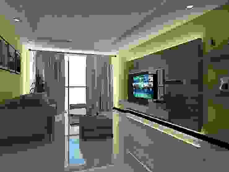 grindulu interior ВітальняПідставки для телевізорів та шафи Фанера Коричневий
