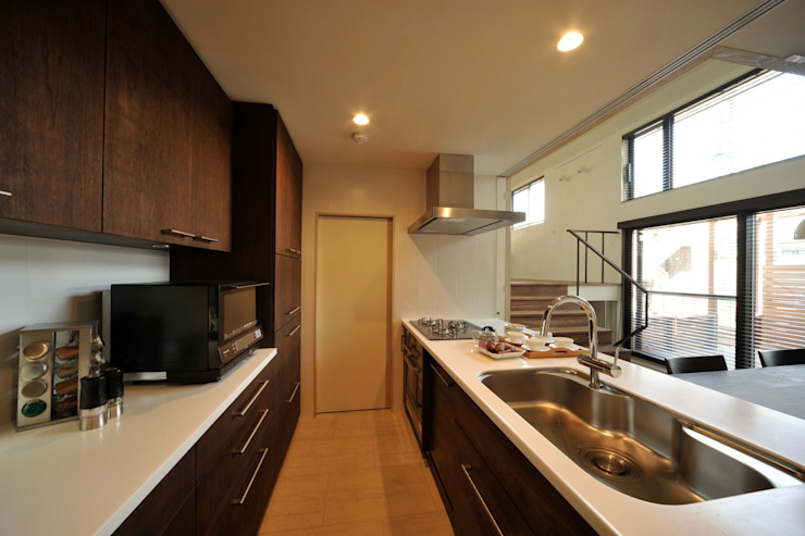 HAN環境・建築設計事務所 Modern style kitchen