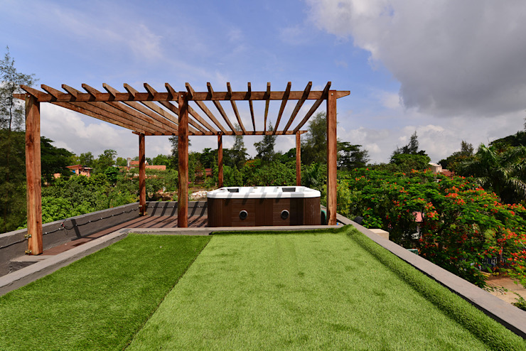 DIVYA BUNGALOW Modern garden by smstudio Modern