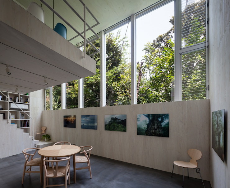 根岸のアトリエ / Atelier in Negishi 庄司寛建築設計事務所 / HIROSHI SHOJI ARCHITECT&ASSOCIATES モダンデザインの リビング