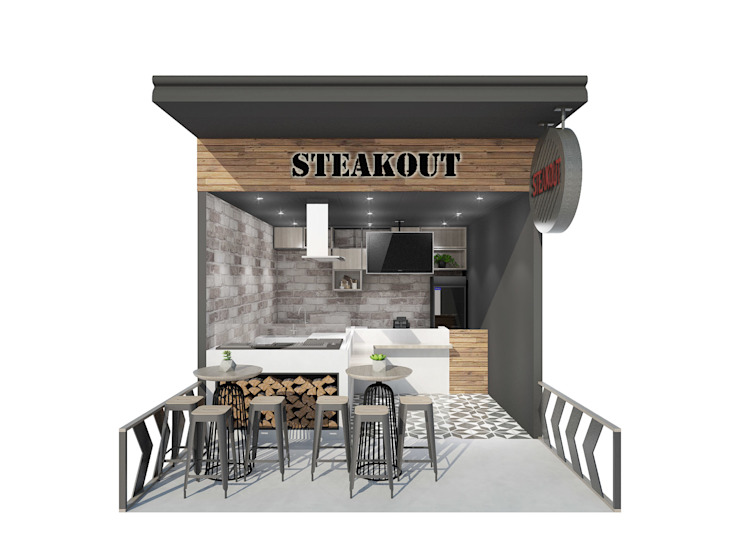 STEAK OUT FOOD STALL by KC INTERIORS