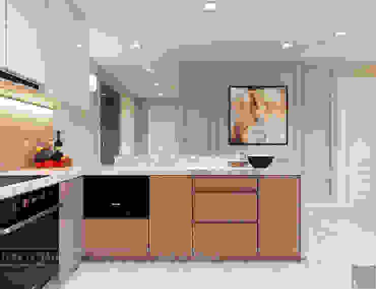 Thiết kế căn hộ Gateway Thảo Điền sang trọng và thanh lịch - Phong cách Tân Cổ Điển Nhà bếp phong cách kinh điển bởi ICON INTERIOR Kinh điển