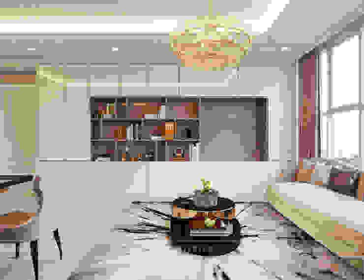 Thiết kế căn hộ Gateway Thảo Điền sang trọng và thanh lịch – Phong cách Tân Cổ Điển Phòng khách phong cách kinh điển bởi ICON INTERIOR Kinh điển