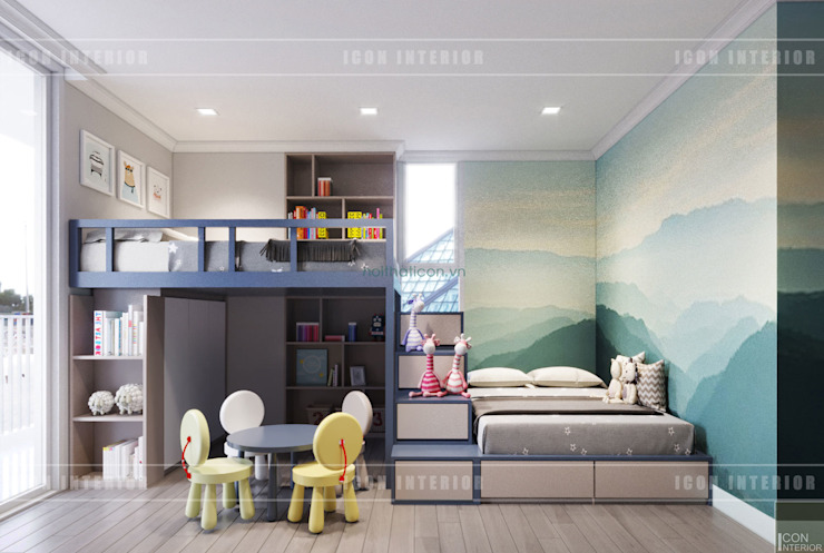 Thiết kế căn hộ Gateway Thảo Điền sang trọng và thanh lịch – Phong cách Tân Cổ Điển Phòng trẻ em phong cách kinh điển bởi ICON INTERIOR Kinh điển